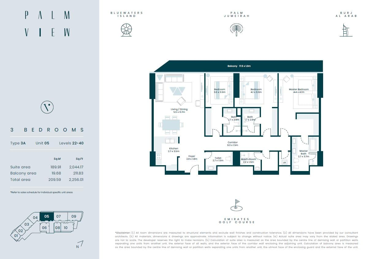 3 bed palm view